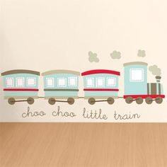 Choo Choo Little Train - Quote - Printed Wall Decals Stickers Graphics
