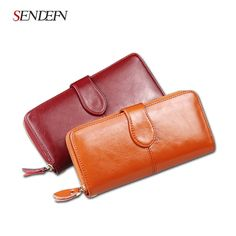41.65$  Buy now - http://alin0e.shopchina.info/go.php?t=32808465061 - 2017 Wallet Female Oil Wax Cowhide Leather Women Wallets Phone Pocket Purse Card Holder Lady Clutch Long Wallets Women 41.65$ #buyonline