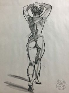 """Figure Drawing ( 050615 There's sessions where I can't seem to really """"get it"""". My mind is elsewhere or I just don't seem to find an approach or a general appeal out of the model's poses. That's when I rely mostly on a more technical. Gesture Drawing, Anatomy Drawing, Anatomy Art, Drawing Poses, Drawing Sketches, Life Drawing, Art Drawings, Drawing Tips, Unique Drawings"""