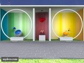 3 colored rooms