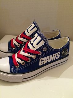 New york giants tennis shoes by sportzshoeking on Etsy