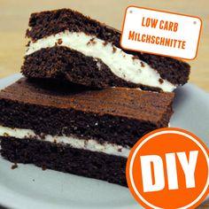 Low-Carb-Milchschnitte selber machen: Diese Variante hier ist jedoch deutlich figurfreundlicher, als das Produkt im Kühlregal des Supermarkts. | http://eatsmarter.de/ernaehrung/news/low-carb-milchschnitte-selber-machen