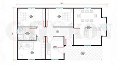 84 m² Prefabrik Ev