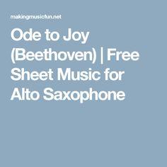 Ode to Joy (Beethoven) | Free Sheet Music for Alto Saxophone