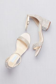 6429e8b3f Low Block Heel Sandals with Allover Gem Embellishment