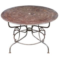 Large French Round Table for the Garden