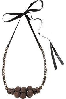 Marni - Chain and bead necklace