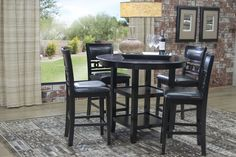 1e5c71aee99d4 Gia Counter-Height Table with 4 Chairs Set Media Image 1 Dining Room  Furniture Sets