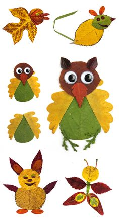 Turn fallen leaves into beautiful works of art and make leaf animal collages! LEAF CRAFTS FOR KIDS Creative Crafts, Fun Crafts, Diy And Crafts, Arts And Crafts, Winter Crafts For Kids, Art For Kids, Autumn Leaves Craft, Leaf Animals, Leaf Crafts
