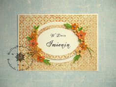 Floral Boxed Name Day Greeting Card