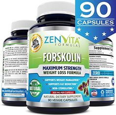 100 Pure Forskolin Extract with 40 Standardized Forskolin 90 Capsules 300 mg Appetite Suppressant MAX Strength Belly Fat Burner Carb Blocker Natural Weight Loss Supplement -- Read more reviews of the product by visiting the link on the image.