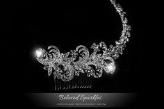 Bridal Hair Comb Swarovski Crystal Hair Comb by BelovedSparkles