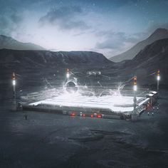 digital visualizations of imagined future landscapes by mike winkelmann