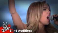 Κατερίνα Μπουρνέλη - California dreaming | 6o Blind Audition | The Voice... The Voice, Blinds, California, Hair, Beauty, Shades Blinds, Blind, Beauty Illustration, Draping