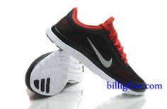 Billig Schuhe Herren Nike Free 3.0 V5 (Farbe:Vamp-schwarz,innen-rot;logo&Sohle-weiB) Online Laden.