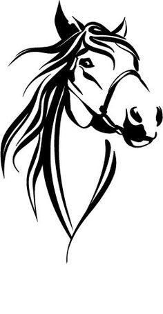 Horse head decal approx 6 excessive Accessible in black or white Horse Stencil, Animal Stencil, Stencil Art, Stencil Designs, Drawing Stencils, Horse Drawings, Animal Drawings, Pencil Drawings, Horse Head Drawing