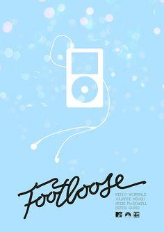 Footloose (2011) ~ Minimal Movie poster by Mads Svanegaard #amusementphile
