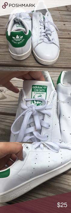 🖤 STAN SMITH ADIDAS 🖤 green and white adidas stan smiths. these are brand new with tags but have been in my closet for a while so does have a couple scuffs on them. barely noticeable. size men's 13. adidas Shoes Sneakers