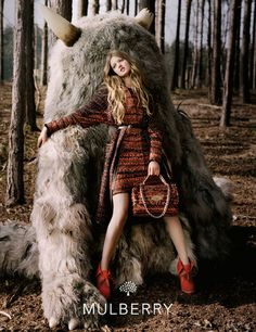 Mulberry's autumn/winter 2012 campaign is inspired by the hit children's movie, 'Where The Wild Things Are' shot by Tim Walker