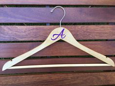 Initial Vinyl Hanger, Wood Hanger, Clothing Hanger, Personalized Hanger, Graduation Gift, Groom Hanger, Bride Hanger, Birthday Gift