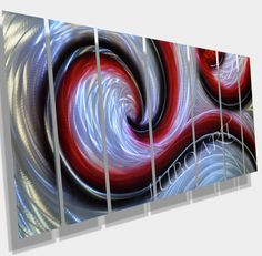 sea+wave+Ocean+Dance+abstract+METAL+modern+new+wall+by+luboart,+$295.00