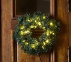 christmas circle wreath with led lights battery operated
