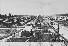 View of the Gurs camp as photographed from a water tower. Gurs, France, ca. Political Prisoners, Prisoners Of War, 12 Tribes Of Israel, Ebro, Guernica, Across The Border, Holocaust Memorial, Jewish History, France