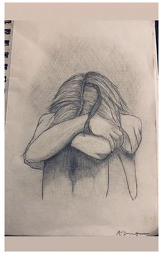 Sad Drawings, Girl Drawing Sketches, Dark Art Drawings, Sketchbook Drawings, Art Drawings Sketches Simple, Pencil Art Drawings, Sad Girl Drawing, Drawings Of Sadness, Cool Drawings Tumblr