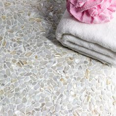 Oyster White Pearl Pebbles Tile - Mosaic Tiles