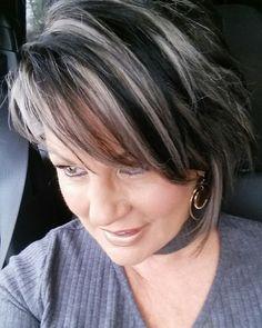 10 best grey hair dark streaks images  silver grey hair