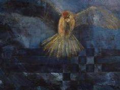 Kunstsamlingen | Artist: Vivi Amelung | Title: Nightwatch | Height: 60cm,  Width: 80cm | Find it at kunstsamlingen.com #kunstsamlingen #kunst #artcollection #art #painting #maleri #galleri #gallery #onlinegallery #onlinegalleri #kunstner #artist #danishartists #viviamelung