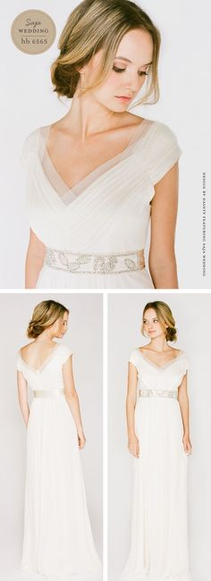 Saja wedding dress via @Once Wed