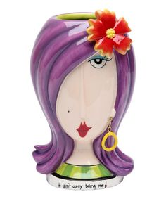 Look what I found on #zulily! Flower Lady Vase #zulilyfinds $17 IF there's MONEY and space! Just my kind of Quirkiness! LOVE IT