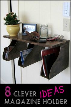 Did you know that magazine holders could be used in several other clever ways to organize your life? Check out these ideas by heading over to our site now!