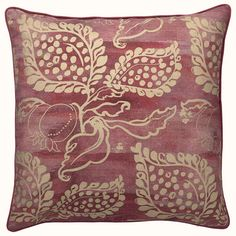 beautiful soft ruby red pillow