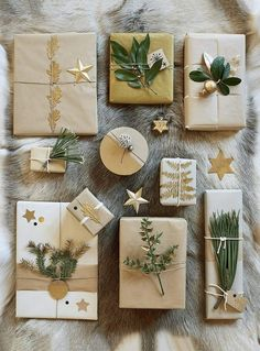 Beautifully decorated gift packages for the holidays! – natural gift wrapping – Marie Claire Ideas Source by mcidees Christmas Gift Wrapping, Diy Christmas Gifts, Holiday Gifts, Christmas Decorations, Santa Gifts, Christmas Ideas, Christmas Fashion, Holiday Ideas, Creative Gift Wrapping