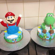 Super mario cake! Yoshi and mario