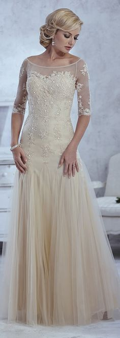 Tulle Trumpet Illusion Bateau with sweetheart neckline Floor-Length Mother Dress