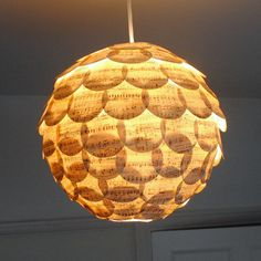 Home Sweet Eco Home Paper Lamp Shade Vintage by NaturallyHeartfelt