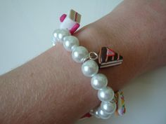 The English Tea Party Bracelet  White by traceysjewellery on Etsy, £14.99