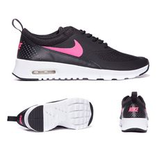 Nike Junior Air Max Thea Trainers Black Hyper Pink S92106