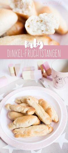 Baby Dinkel-Fruchtstangen - Fingerfood ab ca. 7. Monat #zuckerfrei #salzfrei