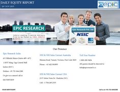 Epic research daily equity report of 26 november 2015  Epic Research Private Limited is the Service Excellence Award Winner Financial Advisory Firm, known for the best consultation services regarding Capital Stock Market of India and other global markets