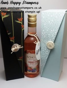 Ann's Happy Stampers: Beautiful Drop Sided Wine Gift Box, Fathers Day Gi...