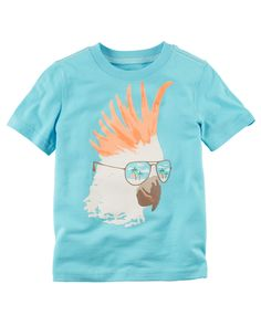 Kid Boy Bird Graphic Tee from Carters.com. Shop clothing & accessories from a trusted name in kids, toddlers, and baby clothes.