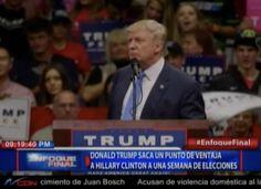 Donald Trump supera a Hillary por primera vez  desde Mayo