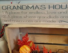 Grandma's House 4x10 Art Print on Wood with by PolkaDotMitten