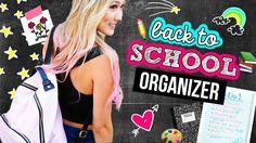 DIY Back to School Supplies: Binders, Pencil Case & Organization Back To School 2017, Make School, School Hacks, School Stuff, Middle School, School Ideas, Diy Back To School Supplies, Back To School Essentials, Diy Supplies