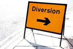 Diversions - the act of diverting or turning aside, as from a course or purpose