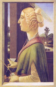 Sandro Botticelli - Portrait of a woman, later Santa Catarina  Sandro Botticelli [1445-1510]  Altenburg, Lindenau-Museum by petrus.agricola, via Flickr